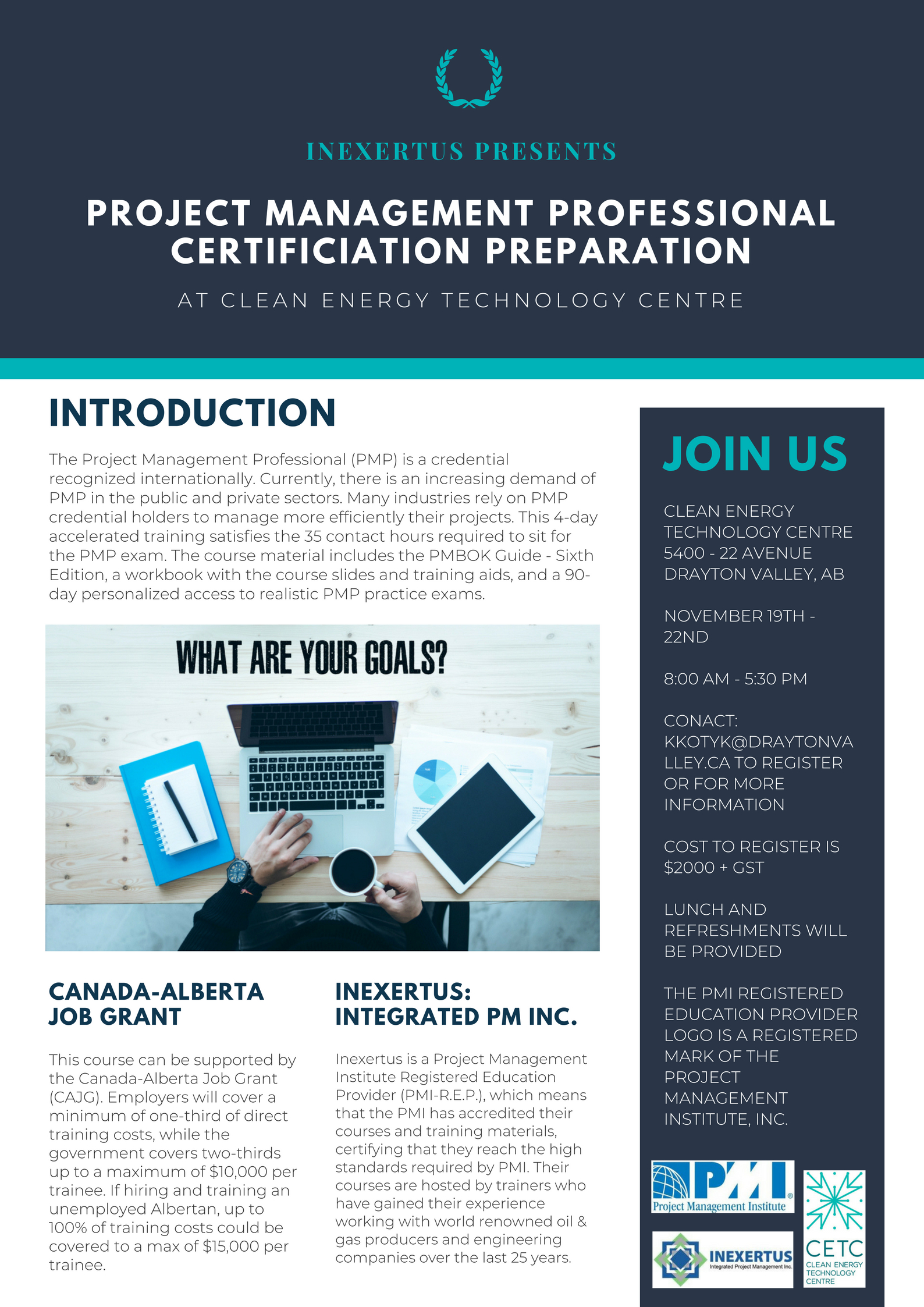 Upcoming Events Project Management Professional Certification
